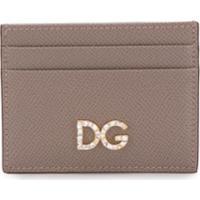 Dolce & Gabbana Porta-Cartões Com Logo - Cinza