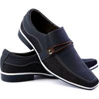 Sapato Social Venetto Thor Confort Masculino - Masculino-Azul