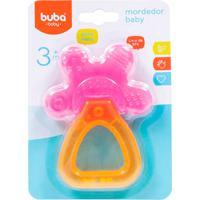 Mordedor Para Bebê Buba Gelado Com Água Chocalho Baby Rosa
