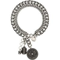 Alexander Mcqueen Crystal Charm Bracelet - Prateado