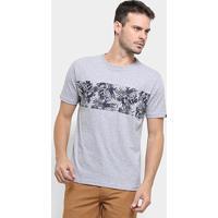 Camiseta O'Neill Floral Stripes Masculina - Masculino-Cinza