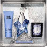 Kit Perfume Angel Feminino Eau De Parfum 25Ml + Body Lotion 50Ml + Vela 70G