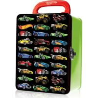 Maleta Metálica - Hot Wheels - Box Para 18 Carrinhos - Verde - Fun - Masculino