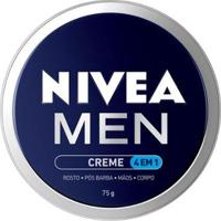 Creme Hidratante 4 Em 1 Nívea - Nivea Men Creme 4 Em 1 175G - Masculino-Incolor