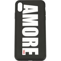 Dolce & Gabbana Capa Para Iphone X Amore De Couro - Preto