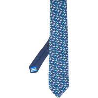 Etro Gravata Com Estampa De Macaco - Azul