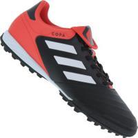 415cef0dea Chuteira Society Adidas Copa Tango 18.3 Tf - Adulto - Preto Branco