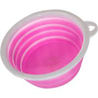 Bebedouro De Silicone Pet Club Dog Sport Rosa
