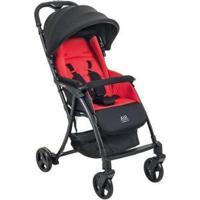 Carrinho De Bebê Burigotto Air - Unissex-Preto+Vermelho
