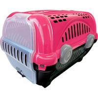 Caixa De Transporte Para Pets Luxo 40X36,5Cm Rosa