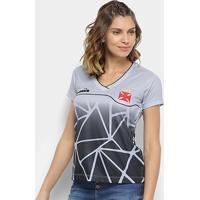 Netshoes  Camisa Vasco Treino 2018 Diadora Feminina - Feminino 85d01b9e0dcf6