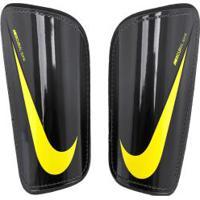 Caneleira De Futebol Nike Mercurial Hard Shell - Adulto - Cinza Escuro/Amarelo
