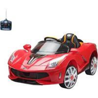Carro Infantil Eletrico Esporte Luxo 12V Com Controle Remoto - Unissex-Vermelho