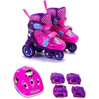 Kit Patins Infantil 31 Ao 34 Princesinha Anne Unik Toys