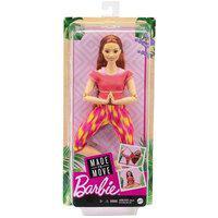 Boneca Barbie - Feita Para Mexer - Aula De Yoga - Camiseta Rosa Ftg80
