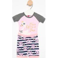 Pijama Cisne - Rosa Claro & Cinza Claropuket