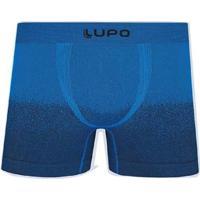 Cueca Boxer Microfibra Sem Costura Lupo Masculina - Masculino-Azul Royal