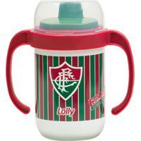 Copo Fluminense Antivazamento Com Alça 250Ml Lolly Baby Verde