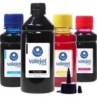 Kit 4 Tintas Para Epson Bulk Ink T140 Black 500Ml Coloridas Corante 100Ml