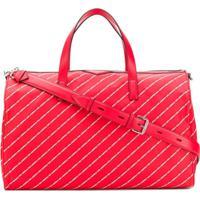 Karl Lagerfeld Mala De Mão Com Logo 'K/Stripe' - Vermelho