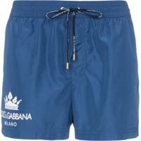 Dolce & Gabbana Sunga Com Coroa E Logo - Azul