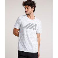 Camiseta Masculina Esportiva Ace Manga Curta Gola Careca Branca
