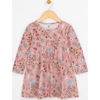 Vestido Infantil Com Estampa Floral - Tam 1 A 4