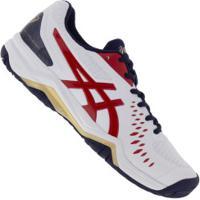Tênis Asics Gel Challenger 12 - Masculino - Branco/Vermelho