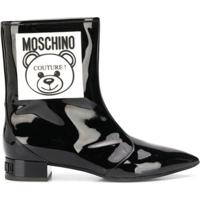 Moschino Bota Teddy Bear Com Patch - Preto