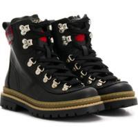 Dsquared2 Kids Tartan Detail Boots - Preto