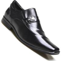 4bcf44aec ... Sapato Social Supertech Couro Estonado Calvest - Masculino-Preto