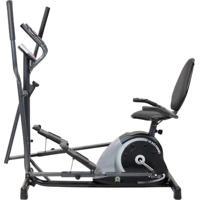 Bicicleta Horizontal + Elíptico Mag 5000D Dream Fitness Preta