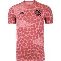 Camisa Pré-Jogo Do Flamengo 2020 Adidas - Masculina - Rosa