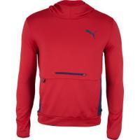 Blusão Com Capuz Puma Rtg Hoody Tr - Masculino - Vermelho