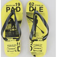 "Chinelo Havaianas Masculino Estampado ""Stand Up Paddle"" Amarelo"