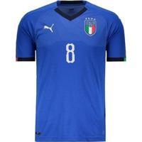 Camisa Puma Itália Home 2018 N°8 Verratti Masculina - Masculino
