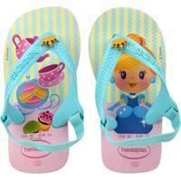 Chinelo Bebê Havaianas Disney Feminina - Feminino-Azul+Rosa