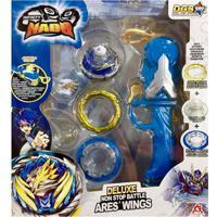 Pião De Batalha - Infinity Nado - Deluxe Non Stop Battle Ares' Wings - Azul- Candide