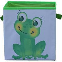 Caixa Organizadora De Brinquedos Organibox Sapinha Branca/Verde