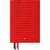 Caderno De Apontamentos Montblanc Couro Vermelho Com Linhas - 118029