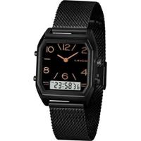 Relógio Lince Feminino Urban Anadigi - Feminino-Preto