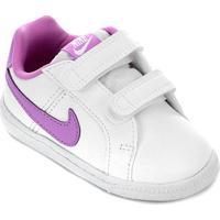 Tênis Infantil Nike Court Royale - Feminino-Branco+Rosa