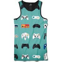 Camiseta Bsc Regata Joystick Full Print - Masculino-Preto