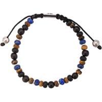 Nialaya Jewelry Pulseira Ajustável De Pedras - Azul