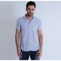 301d04f8f1 Camisa Social Masculina Gola Branca - MuccaShop