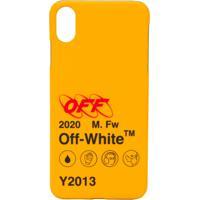 Off-White Iphone Xs Max Logo Print Case - Amarelo