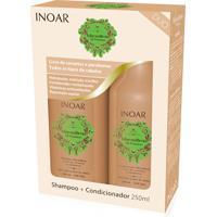 Kit Shampoo Inoar Macadamia 250 Ml + Condicionador 250 Ml.