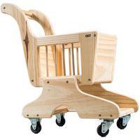 Carrinho De Supermercado Infantil Em Madeira - Olly Toys - F058