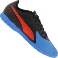 Chuteira Futsal Puma One 19.4 Ic - Adulto - Azul/Preto