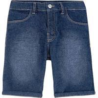 Bermuda Jeans Infantil Hering Kids Masculina - Masculino-Azul